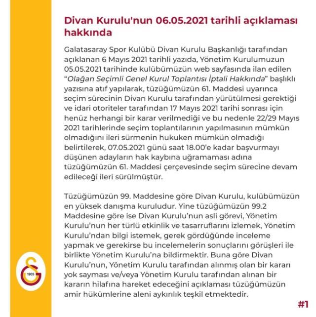 Galatasaray birbirine girdi! Mustafa Cengiz Yönetimi, seçim sürecine dahil olan Divan Kurulu'nu karşısına aldı