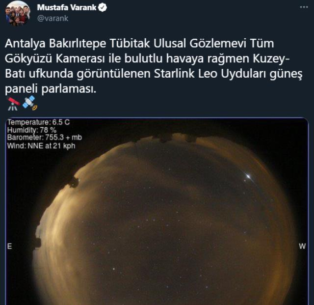 Gökyüzündeki esrarengiz cisimler akıllara Dünya'ya düşecek roketi getirdi! Gerçek, Bakan Varank'ın paylaşımıyla ortaya çıktı