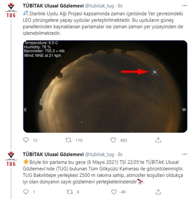 Gökyüzündeki esrarengiz cisimler akıllara Dünya'ya düşecek roketi getirdi! Gerçek ise Bakan Varank'ın paylaşımıyla ortaya çıktı