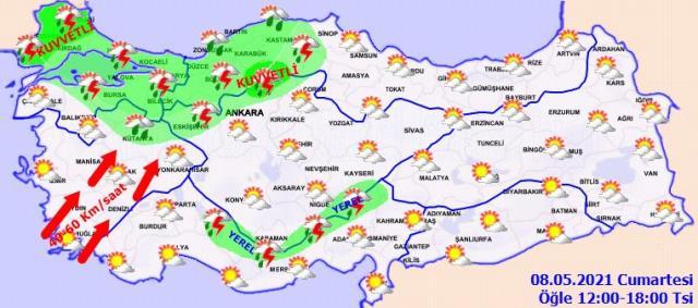 Meteoroloji, Marmara Bölgesi için yağış uyarısında bulundu