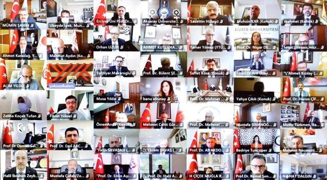 Rektör Türkmen, çevrim içi düzenlenen 'Engelsiz Üniversite Ödülleri' programına katıldı