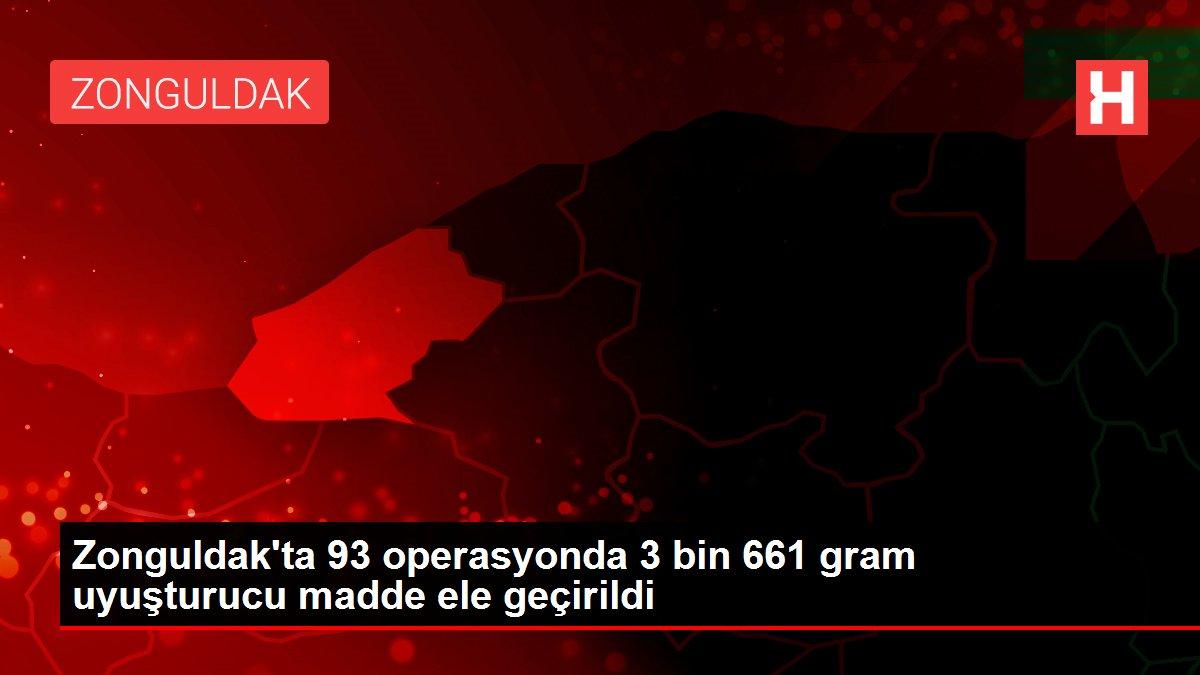 Zonguldak'ta 93 operasyonda 3 bin 661 gram uyuşturucu madde ele geçirildi