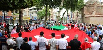 Adana: İsrail'in Mescid-i Aksa saldırısına Adana'dan tepki