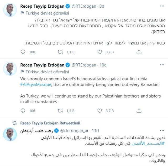 Son Dakika: Cumhurbaşkanı Erdoğan'dan sert Mescid-i Aksa tepkisi: İsrail'i şiddetle kınıyoruz