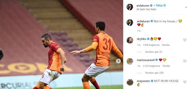 Arda Turan'dan Beşiktaş Başkanı'na gönderme: Benim evimde olmaz