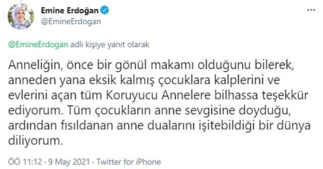 Emine Erdoğan'dan Anneler Günü kutlaması: Tüm çocukların sevgiye doyduğu bir dünya diliyorum
