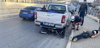 Süleyman Demirel: Motosiklet park halindeki kamyonete çarptı: 1 ağır yaralı