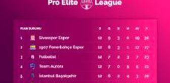 Başakşehir: Pro Elite League Hafta 12 Puan Durumu paylaşıldı!