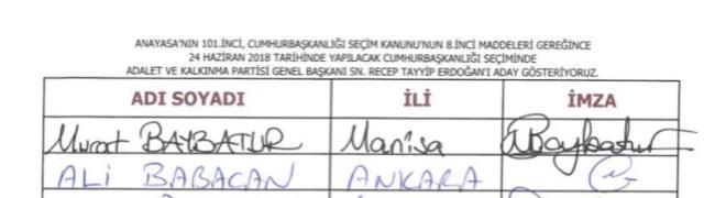 AK Parti'deyken Abdullah Gül'ü desteklediğini açıklayan Ali Babacan'ı zora sokacak belge! Erdoğan için de imza vermiş