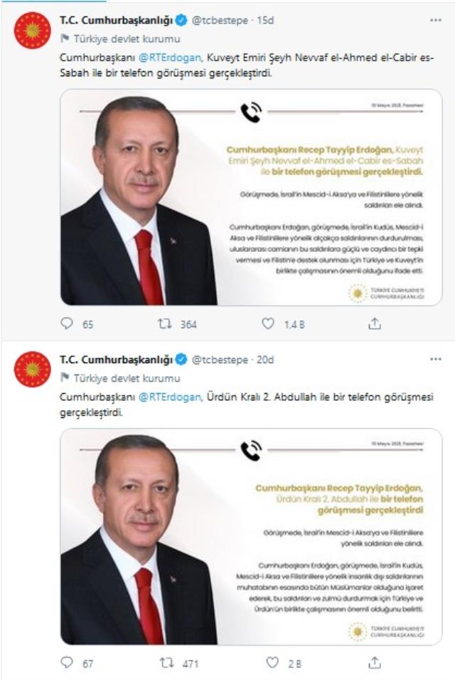 Cumhurbaşkanı Erdoğan'dan Kudüs diplomasisi! Kuveyt Emiri ve Ürdün Kralı ile görüştü