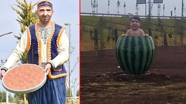 Diyarbakır'da kayyum tarafından yaptırılan karpuz heykeli tartışma yarattı: Korku filmi gibi