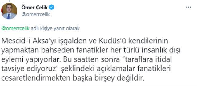 Mescid-i Aksa'da saldırılar devam ederken, Türkiye'den tepkiler peş peşe geldi