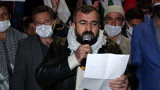 Muş'ta İsrail zulmü protesto edildi