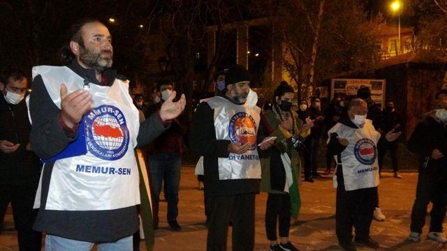 Ardahan'da İsrail'e öfke Filistin'e destek konvoyu
