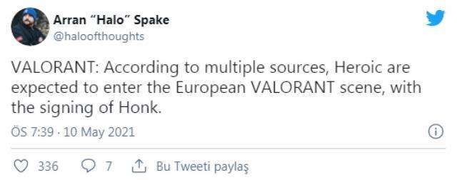 Heroic, Valorant Espor sahnesine Honk ile giriş yapmayı düşünüyor! Honk takımında hangi oyuncular yer alıyor?