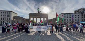 Terör: İsrail'in Filistinlilere yönelik saldırıları Berlin'de protesto edildi