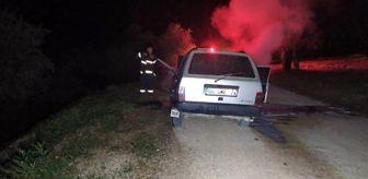Malatya: Seyir halindeki otomobil yandı
