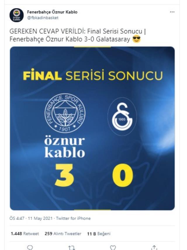 Son Dakika: Kadınlar Basketbol Süper Ligi'nde Fenerbahçe Öznur Kablo şampiyon oldu