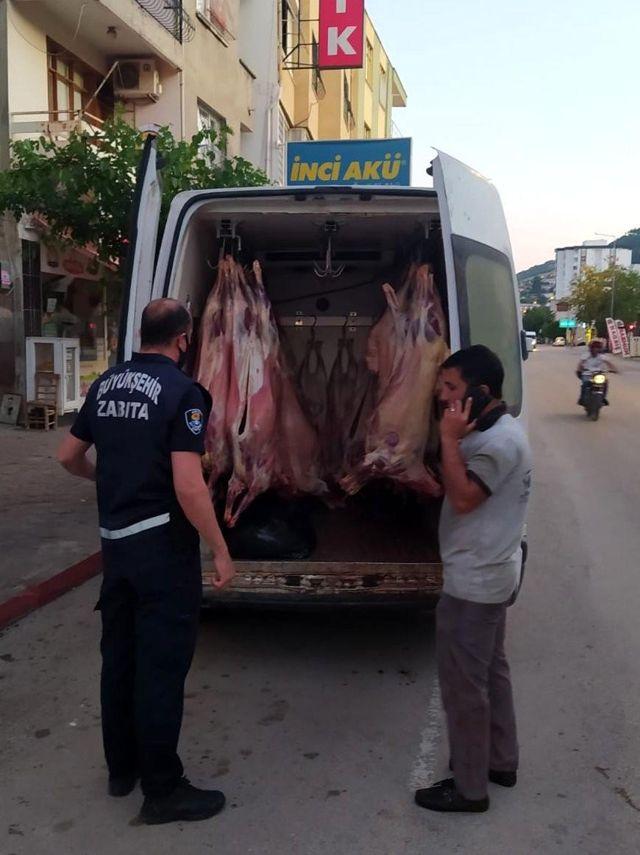 2 ton kaçak et ele geçirildi