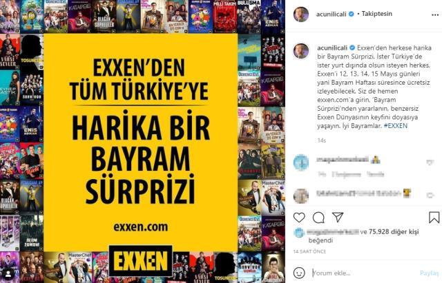 Acun Ilıcalı'dan Ramazan Bayramı sürprizi: Exxen 4 gün ücretsiz olacak