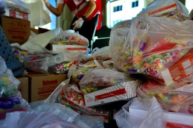 Çocukların bayram şekeri Kızılay'dan
