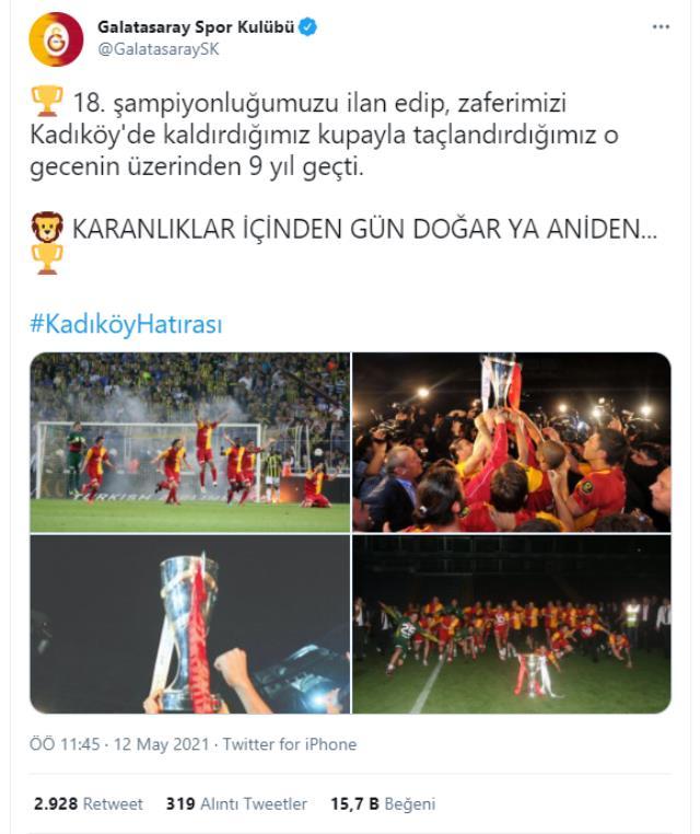 Galatasaray'ın göndermesine Fenerbahçe'den sert yanıt: O gün alçaklarla beraber koşanları unutmayacağız