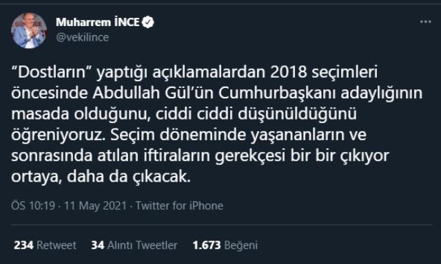 Muharrem İnce, Ali Babacan'ın itirafı üzerinden Kılıçdaroğlu'na yüklendi