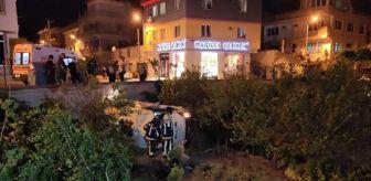 Fevzi Çakmak: Alkollü sürücünün minibüsü bahçeye devrildi: 2 yaralı