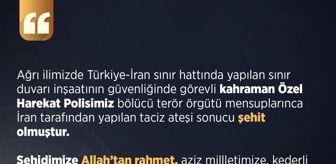 Türkiye: İçişleri Bakanlığı: 'Türkiye-İran sınırında terör saldırısında bir özel harekat polisimiz şehit oldu'