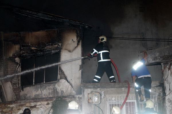 Adana'da metruk binada çıkan yangın endişe yarattı