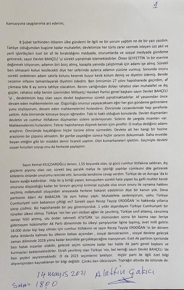 Alaattin Çakıcı, isim vermeden Sedat Peker'e tepki gösterdi: İnsan sapla samanı birbirinden ayırmalı