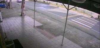 Kaza: Son dakika haberleri | Bisikletli çocuğun tırın altında kalmaktan kurtulduğu anlar güvenlik kamerasında
