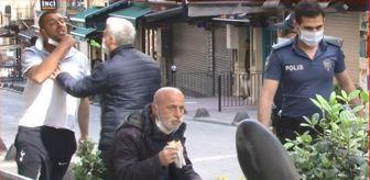 Taksim: TAKSİM'DE SEYYAR SATICI-ZABITA ARBEDESİNİ POLİS SONLANDIRDI; O ALDIRMADAN DÜRÜMÜNÜ YEMEYE DEVAM ETTİ