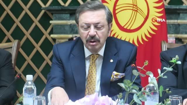 - TOBB Başkanı Hisarcıklıoğlu, Kırgız Bakan Şıkmamatov ile görüştü