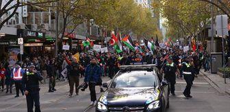 Terör: İsrail'in saldırılarına dünyadan tepki var! 11 ülkede protesto yürüyüşleri düzenlendi