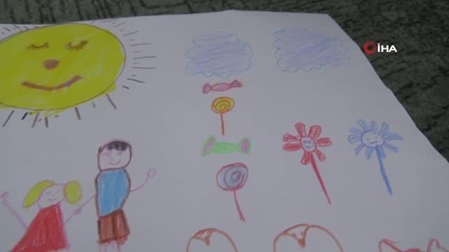 Son dakika haber | - Savaşın çocuklarına bayram resmi çizen minik Nursare: 'Gökyüzünden bomba yağmasın, bayram şekeri yağsın'