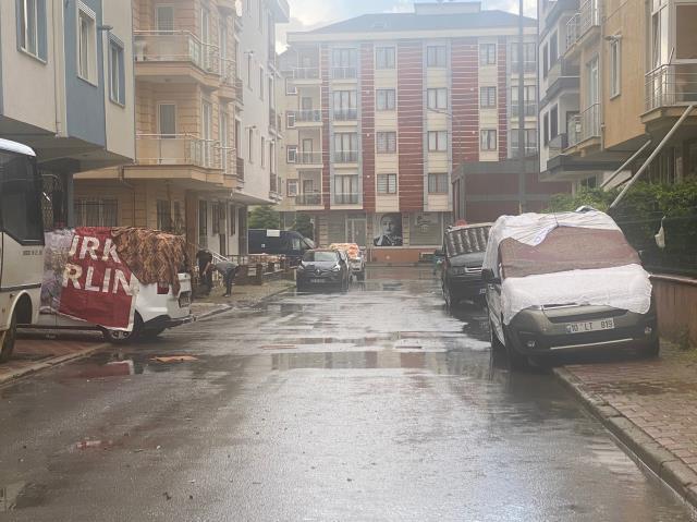 Anadolu Yakası'nda dolu yağışı etkili oldu