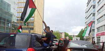 İhlas Haber Ajansı: Berlin'de Filistin'e destek