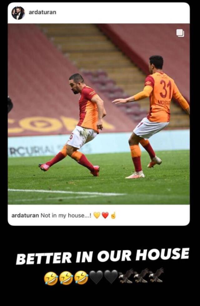 Beşiktaşlı N'Koudou, derbiden sonra gönderme yapan Arda Turan'la sosyal medyada alay etti