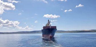Çanakkale: Çanakkale açıklarında sürüklenen gemi kurtarıldı
