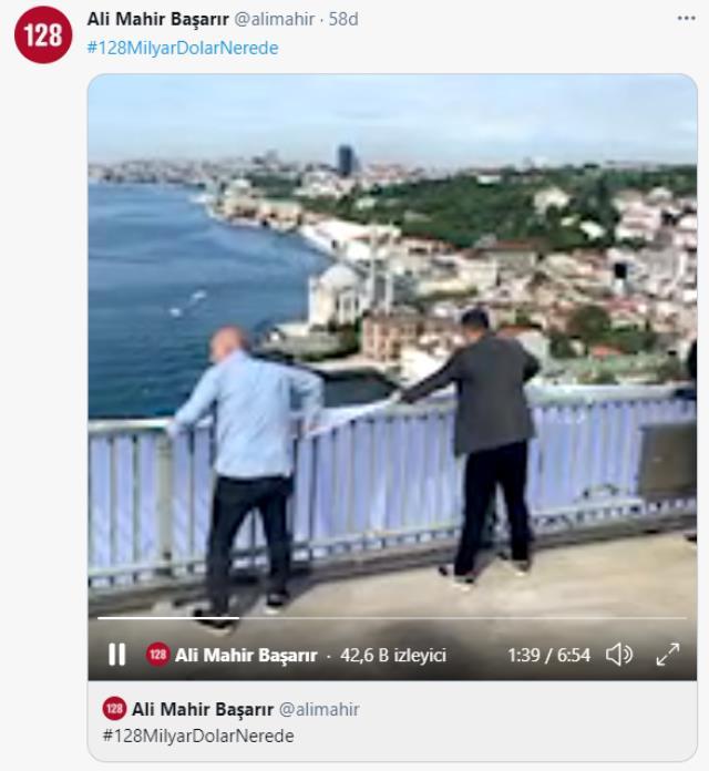 CHP'li vekiller 15 Temmuz Şehitler Köprüsü'ne '128 milyar dolar nerede?' yazılı dev bir pankart astı