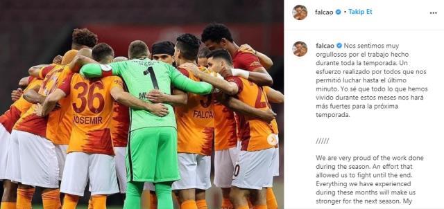 Galatasaray'dan ayrılması beklenen Falcao'dan kafa karıştıran paylaşım: Gelecek sezon bizi daha güçlü yapacak