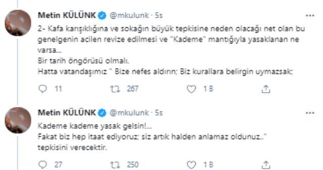 İçişleri Bakanlığı'nın 'Kademeli normalleşme' genelgesine AK Parti'nin içinden itiraz var