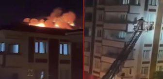 Esenler: Şampiyonluk kutlaması için kullandıkları maytap yangın çıkardı