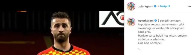 Adı Fenerbahçe ile anılan Alpaslan Öztürk, Göztepe'ye veda etti