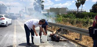 Yangın: Alevler arasında kalan araçtan yanarak çıktı