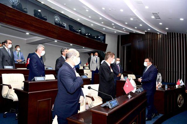 Başkan Gürkan, yönetici kadrosuyla bayramlaştı