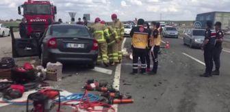 Çorum: Son dakika haberi... KIRIKKALE - Otomobil ile tır çarpıştı: 1 ölü, 2 yaralı
