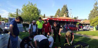 Polis: Motosiklet sürücüsünü kaskı kurtardı