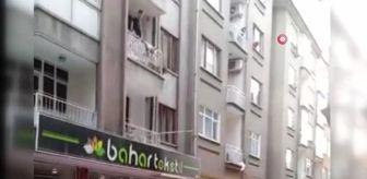 Engelli: Polis balkondan atlama tehlikesi bulunan zihinsel engelli şahsı böyle kurtardı